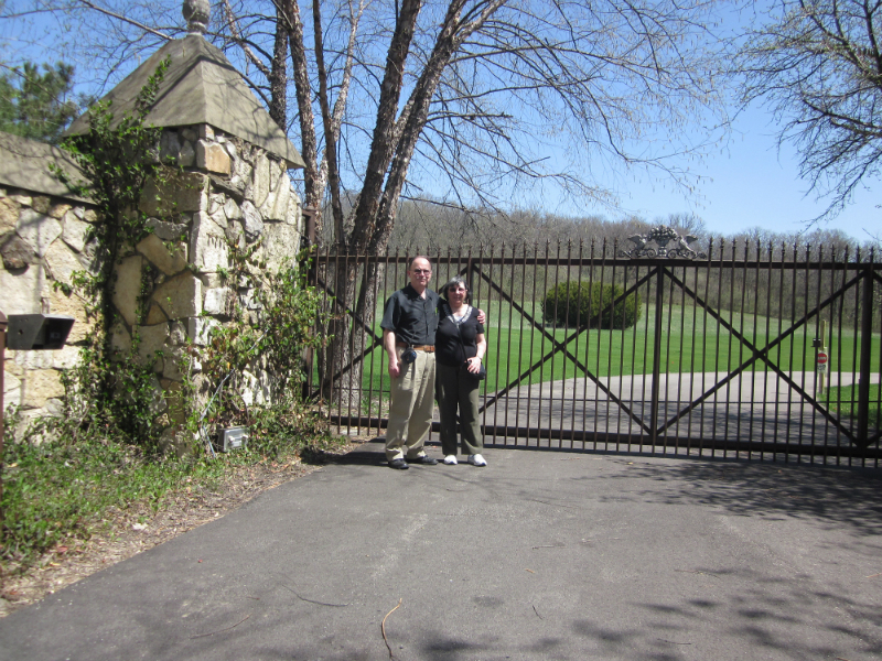 3 - Joe and his wife in front of the Chester Gould Estate