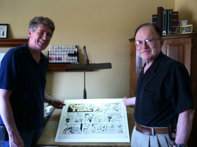 2 - Ross Fletcher and Joe Staton in Fletcher home with Tracy 50th Anniversary Strip