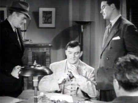 Dick Tracy (Byrd) plays it cool in the G-Men serial.
